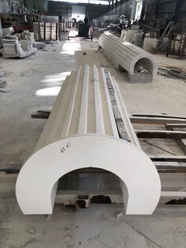 Мраморные колонны чешуя пустотелые